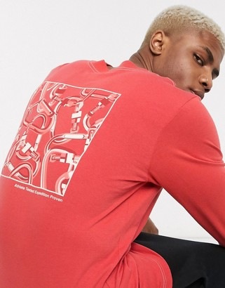 The North Face Carabiner long sleeve t-shirt in red