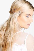 Boohoo Macey Bridal Diamante Floral Spiral Hair Clips