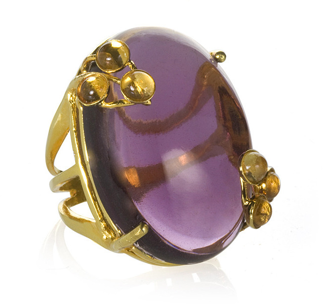 Bounkit Amethyst & Citrine Ring