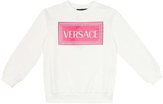 Versace Kids 90s Vintage-logo cotton-jersey sweatshirt