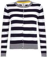 Yumi Womens/Ladies Striped Pointelle Cardigan (M)