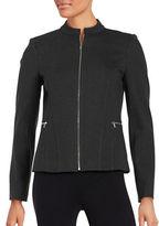 Calvin Klein Knit Zip-Front Jacket