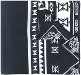 Kenzo Aztec print scarf - women - Modal/Cashmere - One Size
