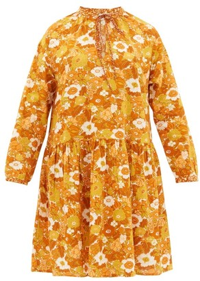 D'Ascoli Lulu Floral Print Cotton Dress - Orange Print