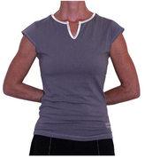 Santorini Women's Crescent Moon Yoga Cap Sleeve Top