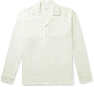Saturdays NYC Marco Camp-Collar Cotton-Gauze Shirt