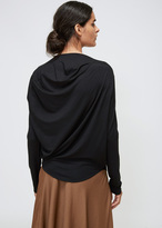 Zero Maria Cornejo Black LS Side Drape Top