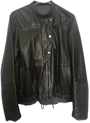 Brunello Cucinelli Green Leather Leather Jacket for Women