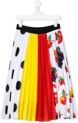 Msgm Kids Pleated Skirt