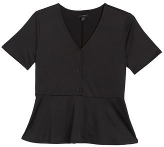 Halogen Peplum Hem T-Shirt