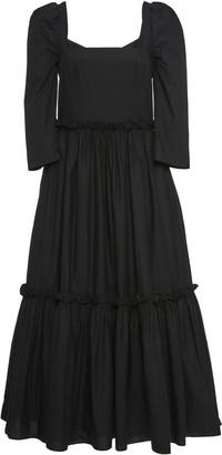Cara Blue Hill Cotton-Poplin Midi Dress