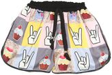 Venera Arapu Digitally Printed Silk Satin Shorts