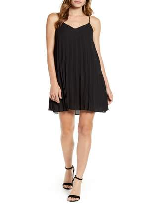Gibson x Hot Summer Nights Almost Ready Pleated Minidress (Regular & Petite) (Nordstrom Exclusive)