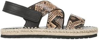 Vince Tenison Snakeskin-Embossed Leather Platform Sandals