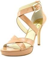MICHAEL Michael Kors Evie Platform Open Toe Patent Leather Sandals.