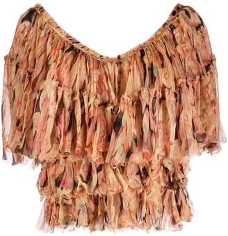 Mes Demoiselles V-neck floral print blouse