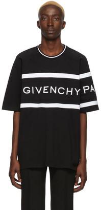 Givenchy Black Oversized Logo Band T-Shirt