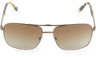Ermenegildo Zegna 59MM Square Aviator Sunglasses