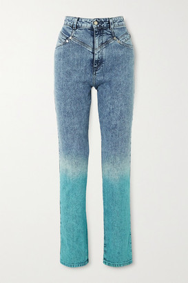 Stella McCartney Degrade High-rise Straight-leg Jeans - Blue