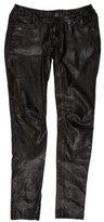 AllSaints Low-Rise Leather Pants