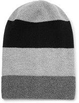 Dolce & Gabbana Striped Ribbed Cashmere Beanie