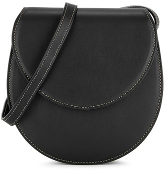Hunting Season The Saddle black leather cross-body bag
