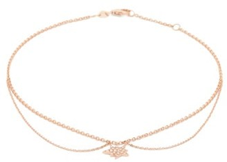 Diane Kordas Explosion Diamond & 14kt Rose-gold Ankle Bracelet - Rose Gold