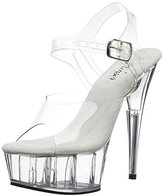 Pleaser USA Women's Delight-608 Ankle-Strap Sandal