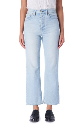 TRAVE Gia High Waist Straight Leg Jeans