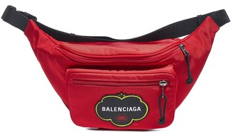 Balenciaga Logo Embroidered Belt Bag