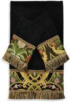 Austin Horn Classics Gustone Embellished Bath Towels in Black (Set of 3)