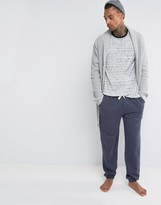 Asos Loungewear Slim Jogger In Navy