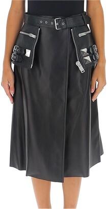 Alexander McQueen Belted Peplum Skirt