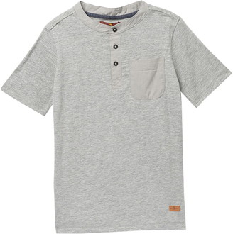 7 For All Mankind Short Sleeve Henley T-Shirt