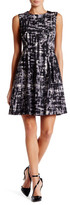 Anne Klein Printed Scuba Fit & Flare Dress