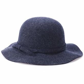 Yuwei Autumn Faux Wool Felt Elegant Bowknot Floppy Hat