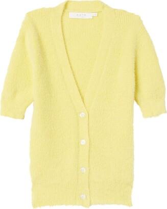 ASTR the Label Women's Short Sleeve V Neck Cloud Nine Cardigan