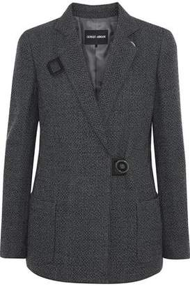 Giorgio Armani Stretch-wool Jacquard Blazer