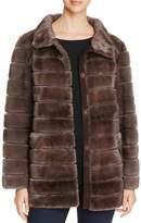 Maximilian Furs Suede Trim Mink Fur Coat - 100% Exclusive