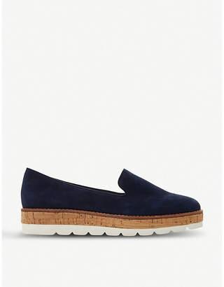 Dune Gasp flatform slipper cut loafers