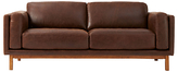 west elm Dekalb Aniline Leather Sofa, Molasses