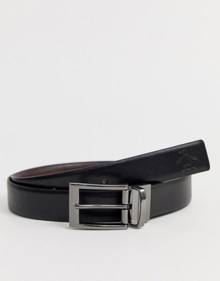 Original Penguin reversible belt in black/brown