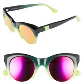 Westward Leaning Women's Lost On Paradise 47Mm Sunglasses - Green Ombre/ X2 Pink
