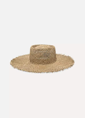 LACK OF COLOR Sunnydip Frayed Straw Boater - Beige