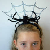 Little Ella James Halloween Spiderweb Headband