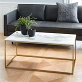 west elm Graphic Marble Inlay Coffee Table - White