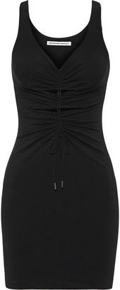 alexanderwang.t Cutout Ruched Stretch-jersey Mini Dress