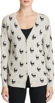 360 Sweater Multi Skull Print Cashmere Cardigan