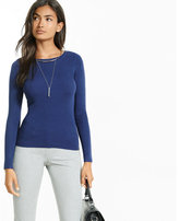 Express ribbed crew neck long sleeve sweater