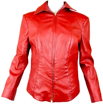 Jitrois Red Leather Leather jackets